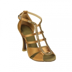 Suphini Vogue design deeptan satin high heel professional latin salsa sandal