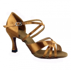 Suphini Free Shipping High Class Satin Basic Sandals Low Heel Latin Salsa Dance Shoes